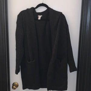 H&M Black Long Cardigan in Size Medium